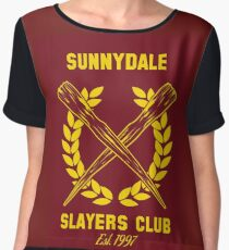 Sunnydale Slayers Club Women's Chiffon Top
