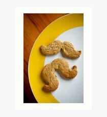 Pistachio & white choc chip moustache biscuits Art Print