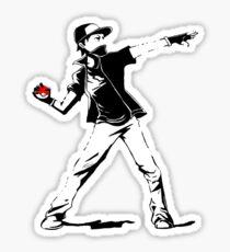Banksy Pokemon Sticker