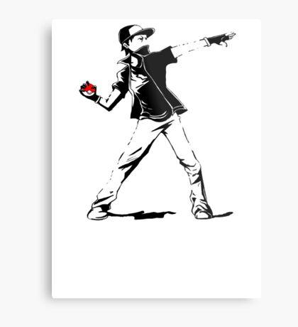 Banksy Pokemon Metal Print