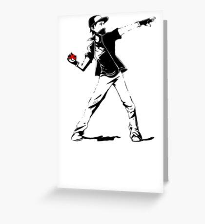 Banksy Pokemon Greeting Card
