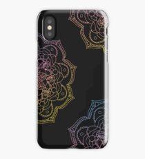 Watercolor mandala round pattern in oriental style. iPhone Case