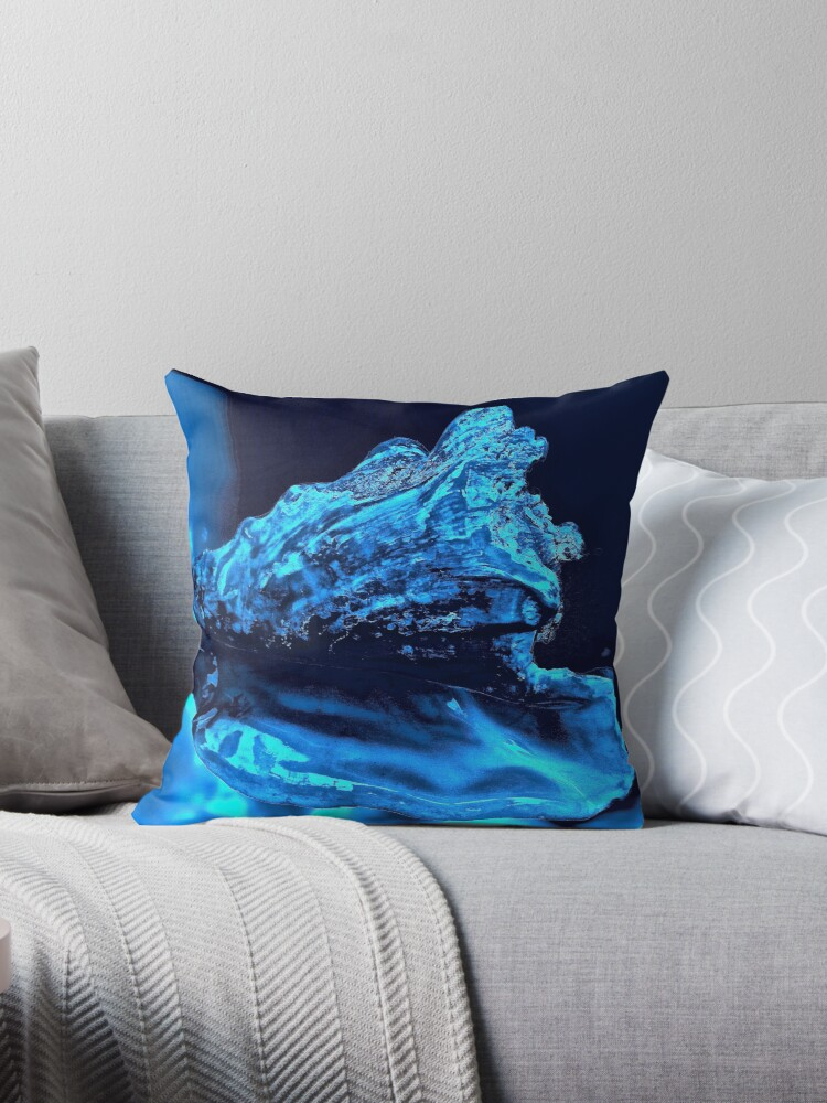 Midnight Blue Throw Pillows :
