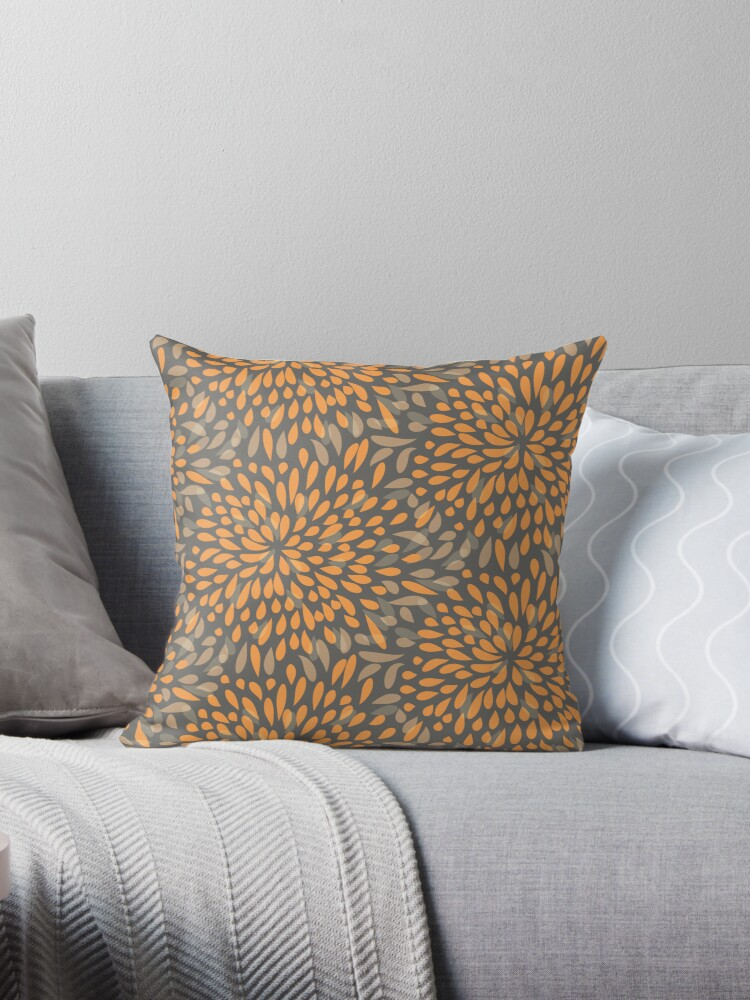 Abstract splash pattern pillow case by astrozombie
