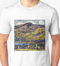 Marsden Hartley - Mountain Lake-Autumn. Mountains landscape: mountains,  Lake, rocky nature, sky and clouds, trees, peak, forest, rustic, hill, travel, Autumn T-Shirt