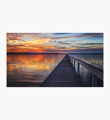 Sunset at Long Jetty Photographic Print