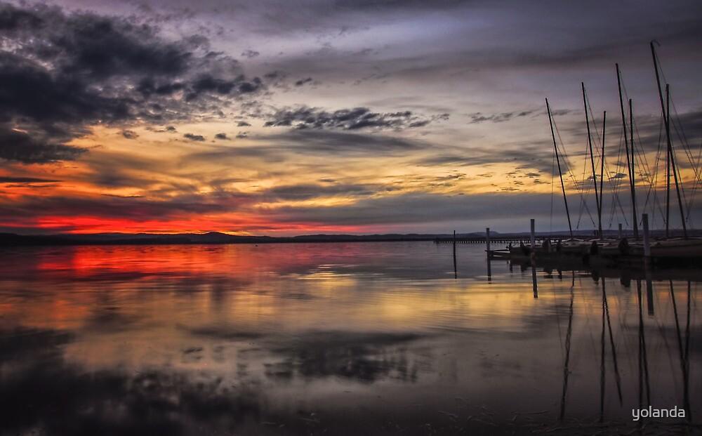 Sunset Reflections by yolanda