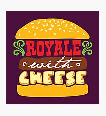 Pulp Fiction - Royale with cheese Photographic Print