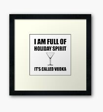 Holiday Spirit Vodka Framed Print