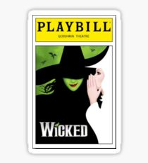 Wicked Playbill Sticker
