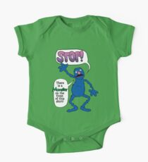 Monster on the Front of the Shirt One Piece - Short Sleeve