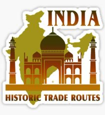 India Historic Trade Routes Sticker