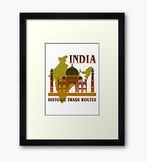 India Historic Trade Routes Framed Print