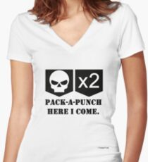 Pack-A-Punch, Here I Come. Women's Fitted V-Neck T-Shirt