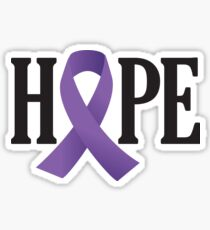 Purple Ribbon Hope Sticker