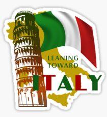 Leaning Toward Italy Sticker