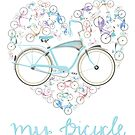 I Love my Bicycle Print von Andy Scullion