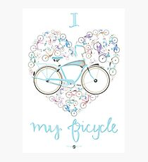 I Love my Bicycle Print Photographic Print