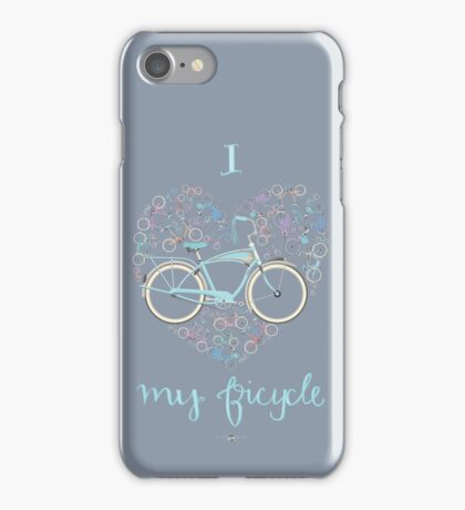I Love my Bicycle Print iPhone Case/Skin