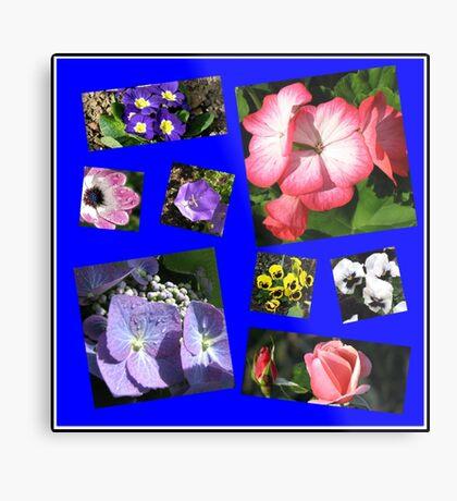 Blumen-Power-Collage Metallbild