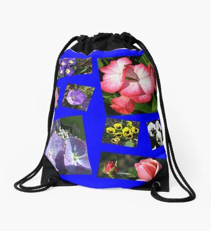 Blumen-Power-Collage Turnbeutel