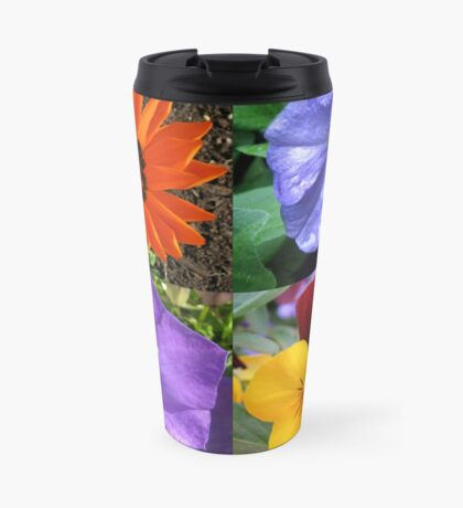 Quartett Sommer Blumen Collage Thermosbecher
