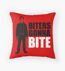Biters Gonna Bite Throw Pillow