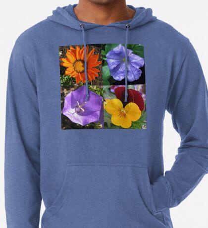 Quartett Sommer Blumen Collage Leichter Hoodie