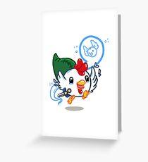Cucco Link  Greeting Card