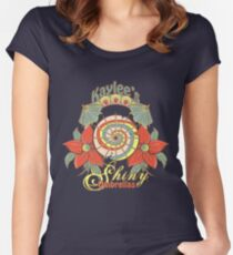 Kaylee's Shiny Umbrellas Women's Fitted Scoop T-Shirt
