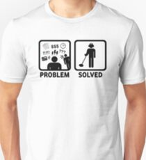 Funny Metal Detecting Problem Solved Unisex T-Shirt