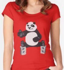 Fu panda Kung Women's Fitted Scoop T-Shirt