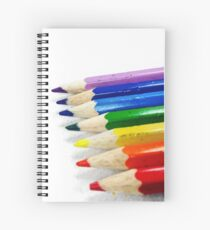 Pencil Crayons Spiral Notebook