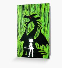 A Girl and Her Dragon Greeting Card