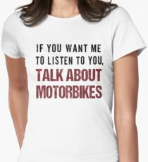 Rude Motorbike Shirt Womens Fitted T-Shirt
