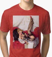 Gil Elvgren Appreciation T-Shirt no. 05 Tri-blend T-Shirt