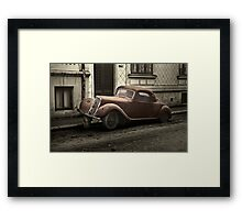 Car: A Portrait Framed Print