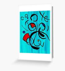 Blue Jazz at Noon Greeting Card