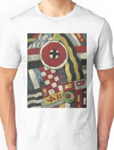 Marsden Hartley - Berlin Abstraction. Abstract painting: abstract art, geometric, expressionism, composition, lines, forms, creative fusion, spot, shape, illusion, fantasy future Unisex T-Shirt