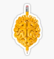 Pencil Brain Sticker