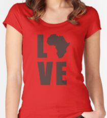 Love Africa Women's Fitted Scoop T-Shirt