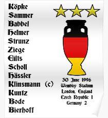 Germany Euro 1996 Winners Poster