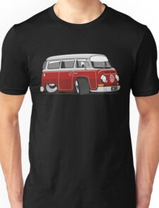 VW T2 Microbus cartoon red Unisex T-Shirt