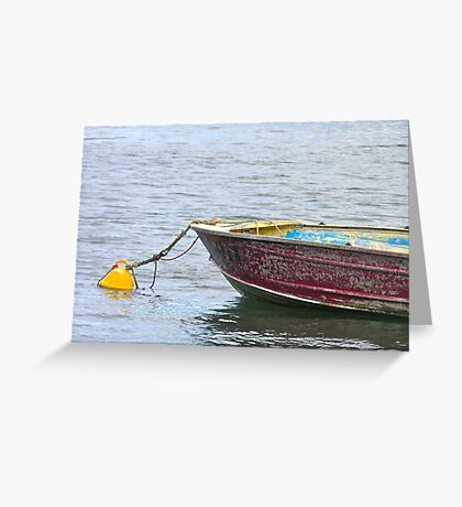 Resting on the moorings Greeting Card