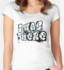 I was here street art - Switched at Birth Women's Fitted Scoop T-Shirt