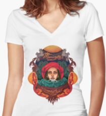Mama Marinette's Voodoo Juice Women's Fitted V-Neck T-Shirt