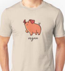 Vegan Pig Butterfly T-Shirt