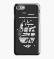 Blackout Poetry Heart iPhone Case/Skin