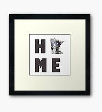 "Minnesota ""HOME"" Framed Print"