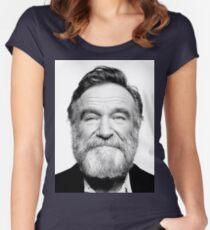 robin williams beard Women's Fitted Scoop T-Shirt